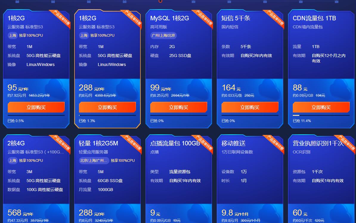 腾讯云618爆款服务器仅需95/年